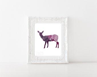 Majestic Deer Watercolor