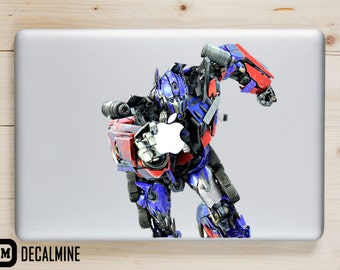 Transformers Optimus Prime MacBook Decal Vinyl Sticker Removable Vinyl Decal MacBook Pro Sticker MacBook Air Decal MacBook Decals