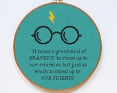 Harry Potter Cross Stitch Pattern, Bravery Quote Cross Stitch Chart, PDF Format, Instant Download