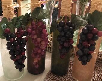 Wine Bottle Decor-Bunch of Grapes