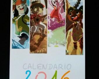 Calendar 2016 child bestiary