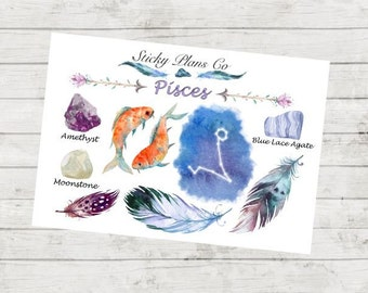 Pisces Zodiac Sign Stickers