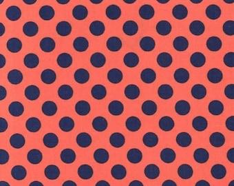 Poppy Ta Dot -  end of bolt 1/8 YARD - HALF YARD - Michael Miller - Cotton Fabric - Quilting Fabric