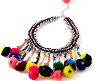 Tribal Inspired Statement Necklace