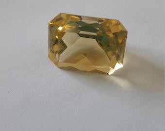 Citrine Emerald Cut loose stone