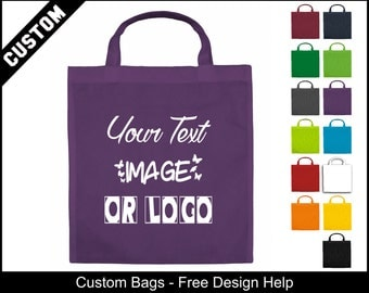 cheap purple tote bags with printed logo wholesale
