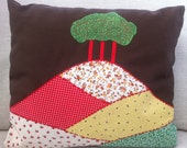 Cushion Colmers Hill Dorset Fabric Collage Handmade