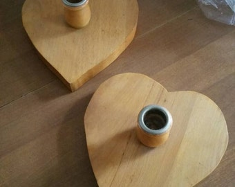 Heart Candle Holders~ Pair