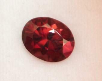 Natural Red Zircon  Oval cut 9mm - Loose Red Zircon