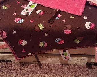 Cupcakes & Hearts Sensory Blanket - Lovey