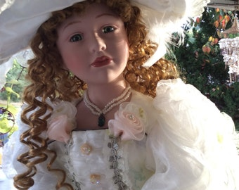 Victorian Bride Porcelain Doll