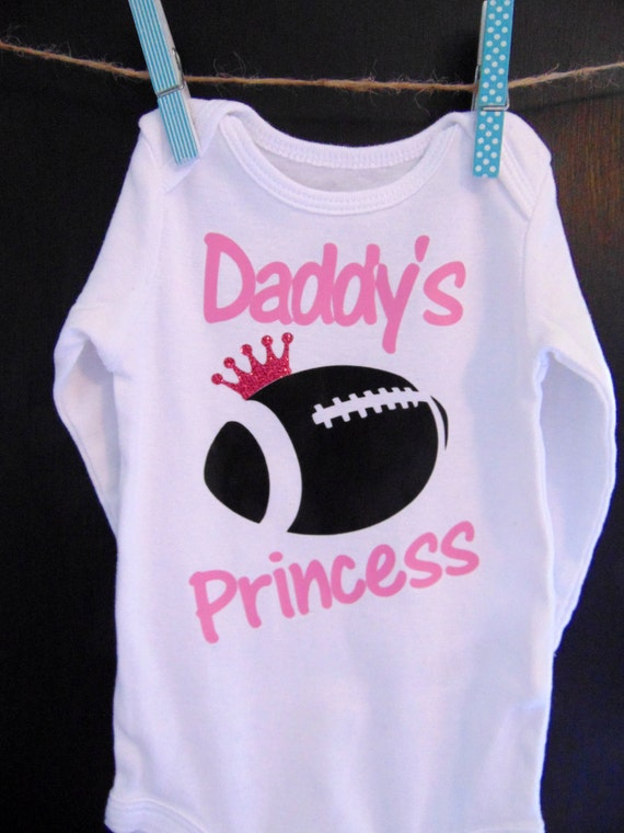 Items similar to Daddys Girl Clothes Football Baby Girl
