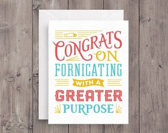 Greater Purpose Baby Card Card