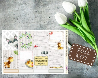 SALE Into the forest // Weekly Planner Kit for use with Erin Condren LifePlanner