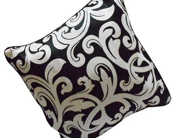 Indian Cushion Cover Throw Pillow Cover Home Decor Black White Decorative Cushion Case Crafted Material Cover Zipper Cushion Case