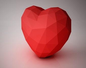DIY PAPER SCULPTURES  - Love My Heart Template