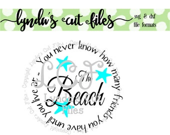 Beach Friends SVG/DXF file