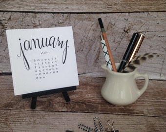 2017 Desktop Mini Calendar with easel