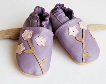 Baby shoes leather slippers organic