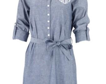 Monogrammed Chambry Dress, Monogram, Dress, Spring, Summer