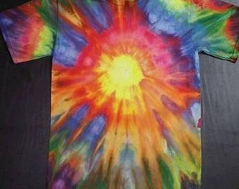 Custom Sunburst Tie Dye Size Small/Medium/Large/ XL/ xxl/xxxl/xxxxl/xxxxxl Vibrant Colors