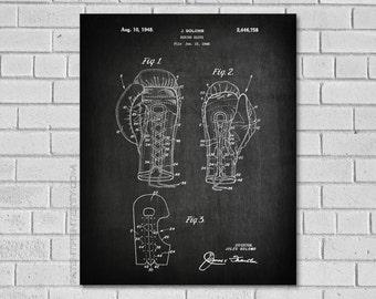 Boxing Glove Poster - Boxing Blueprint - Boxing Glove Patent - Boxing Decor - Boxing Wall Art - Historic Boxing - Patentprint 454714234