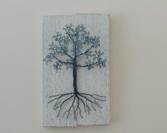 Copper Wire 3D Tree on White, SM