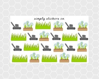 Outdoor Chores Sampler Planner Stickers