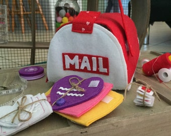 Snail Mail Mailbox Set, kids mailbox, kids letterbox, letters, stamps, play mailbox, envelopes, postman, snail mail, postbox, pretend mail