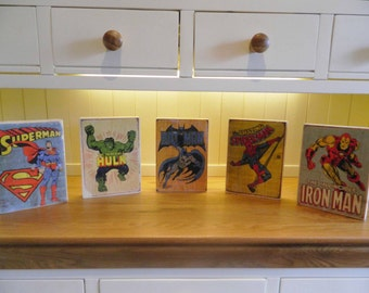 Vintage Superhero Pallet Prints Ten pounds each