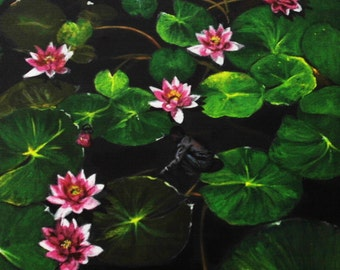 Contemporary Waterlilies Painting
