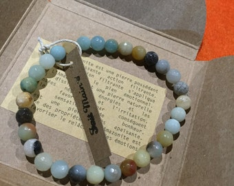 Amazonite bracelet multicolor lithotherapy-6 mm - adult