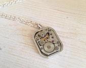 Steampunk Necklace, steampunk jewellery, Watch Mechanism Necklace, Steampunk pendant, clockface cogs, steam punk, watch