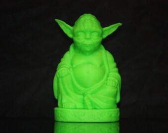 3D printed glow in the dark Yoda Buddha