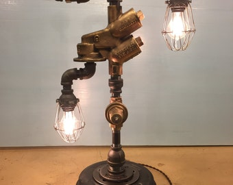 Pipe-Fitting SteamPunk Table Lamp