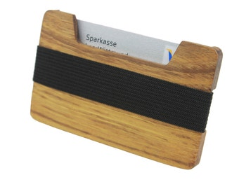 High quality purse made of wood - acacia tree - wallet coin purse wallet