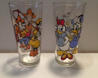 Donald Daffy Horace and Clarice!! Pepsi collector series tumblers