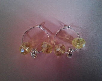 1950's Lemonade Stand Loop Earrings