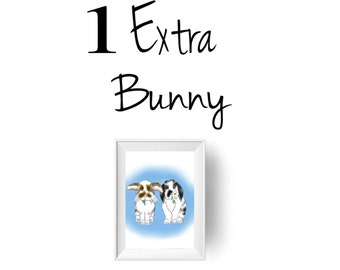 EXTRA bunny for the personalized bunny download portrait. DON