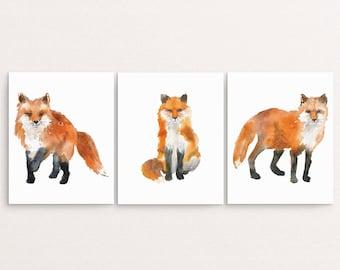 Fox Painting, Fox Wall Art, Watercolor Fox Printable, Fox Nursery Art, Printable Painting, Fox Nursery Decor, Watercolor Animal Print