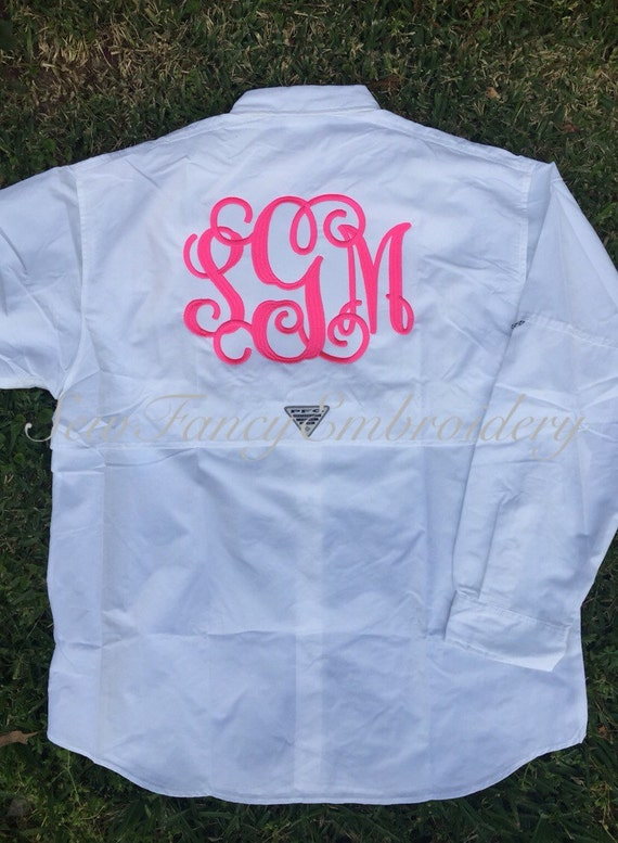 Items similar to monogram fishing shirt bridesmaid shirts for Monogram fishing shirt
