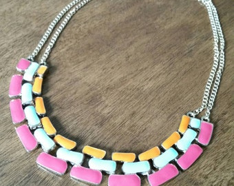 Vintage Enamel Necklace