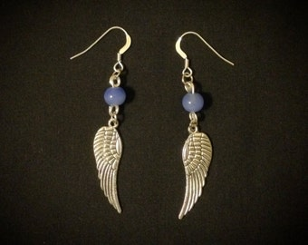 Sky Blue Wings Earrings