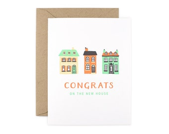 Congratulations Letterpress Card - Congrats on the New House
