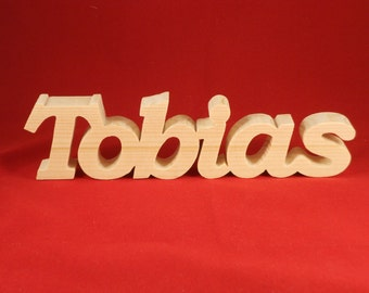 Wooden word letters, names, signs