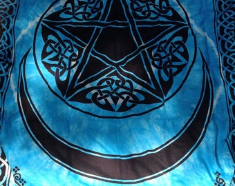 Pentacle with Moon Tapestry