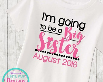 Big Sister announcement shirt toddler new baby going to be a big sister tee kids shirt little sister big sister announcement big sis