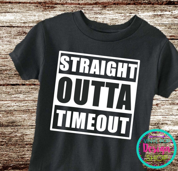 Items similar to Straight outta timeout shirt, toddler ...