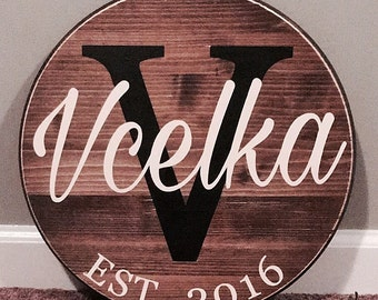 Family established sign, wedding gift, anniversary gift, christmas gift, personalized gifts, custom signs