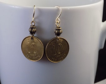Chinese Coin Earrings